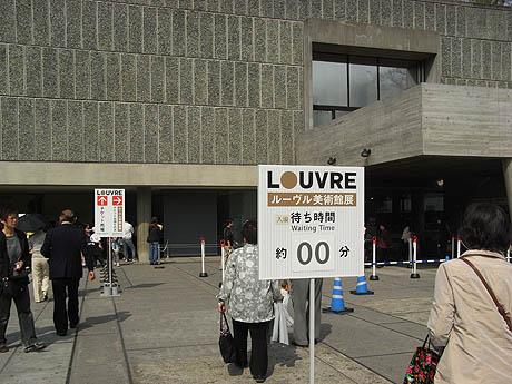 4月8日の美術館・博物館の混雑: ルーヴル美術館展