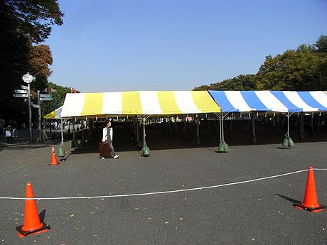 上野公園では何やらイベントの準備中!?