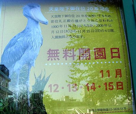 上野動物園 無料開園日